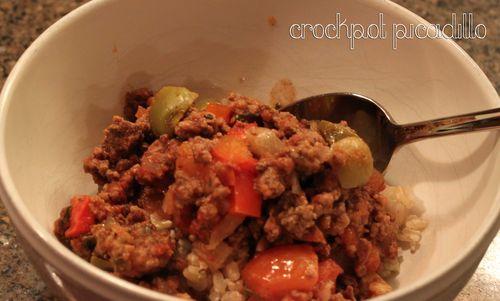 Crockpot-picadillo